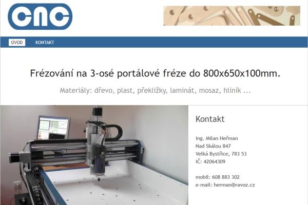 Webové stránky – CNC frézování Olomouc