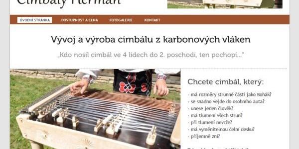 Webové stránky – Cimbály Heřman