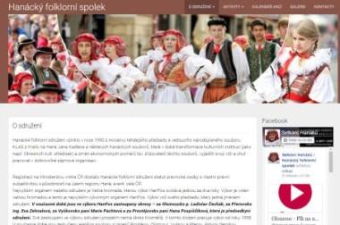Webové stránky – Hanácký folklorní spolek
