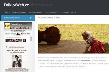 Webové stránky – FolklorWeb.cz